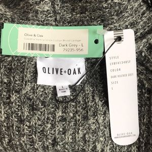 Olive & Oak Sweaters - NWT Varsity Stripe Cotton Blend Cardigan Gray